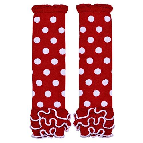 Wensltd Litle Princess Child Girl Kneepad Socks Polka Dot Leg Warmer (Red And White Polka Dot Leggings)