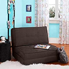 Whether your kids are studying, hanging out with friends, or lounging around, this flip chair is the perfect addition to any room. It is flexible enough to suit the activities of your children with its three convertible positions. It can unfo...