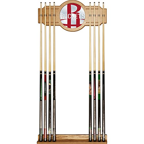 Trademark Gameroom NBA6000-HR2 NBA Cue Rack with Mirror - Fade - Houston Rockets by Trademark Global