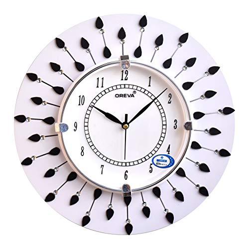 Wood Analog Wall Clock (White)