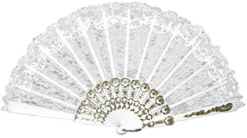 (Morris-Costumes Geisha Lace Fan Funny Western Theme Party Halloween Accessory,)