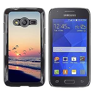 iKiki Tech / Estuche rígido - Sunset Sea Beautiful Nature 23 - Samsung Galaxy Ace 4 G313 SM-G313F
