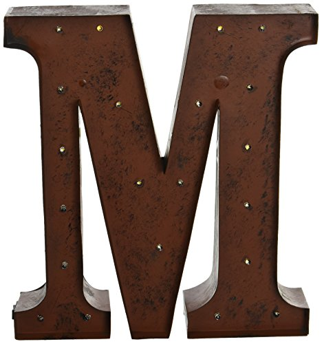 The Gerson Company Quot M Quot Led Lighted Metal Letter With