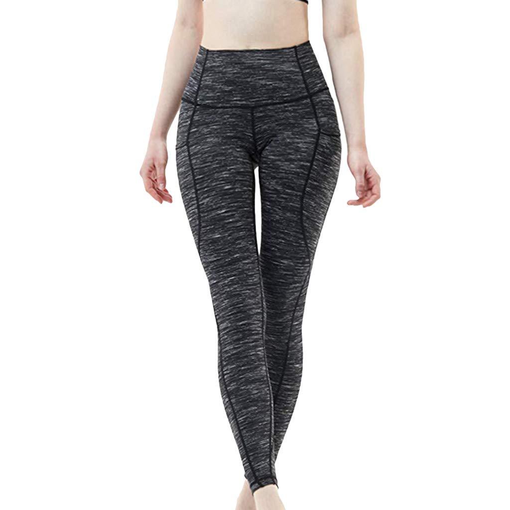 Femme Sports Leggings Pants Solid Workout Collants Stretch Fitness Yoga Pantalon,Taille Haute Capri Course /à Pied Pantalon