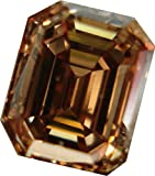 RINGJEWEL 10.55 ct VS1 Emerald Cut Loose Real Moissanite Use 4 Pendant/Ring Brown Color