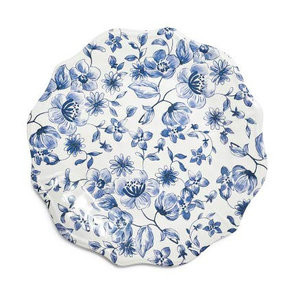 Sur La Table Blue Foral Melamine Salad Plate ()