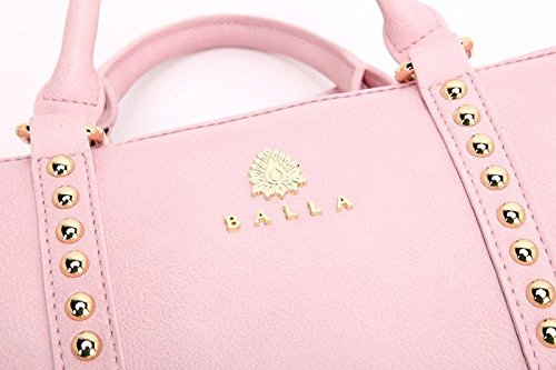 Amazon.com: Balla Women s Pink – Bolso de mano piel vegana ...