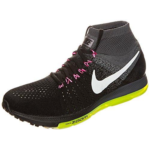 Nike Mens Zoom All Out Flyknit Loopschoen Zwart Wit Cool Grijs Volt 002