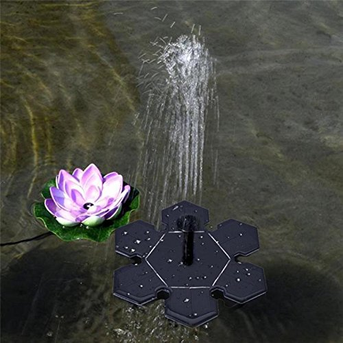 Garden Sprinklers - 6v 1 5w Garden Floating Solar Water Pump Fountain Panel Kits Submersible Watering Display Sprinkler - High Outside Series For With Timer Kids Lawns Tripod In