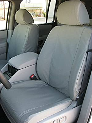 Durafit Seat Covers 2010-2013, Ford F150 Pair of Front Bucket Gray Twill Seats Covers