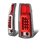 Replacement for Chevy/GMC C/K-Series Pair of 3D LED Tail Brake Light (Black Housing Smoked Lens)