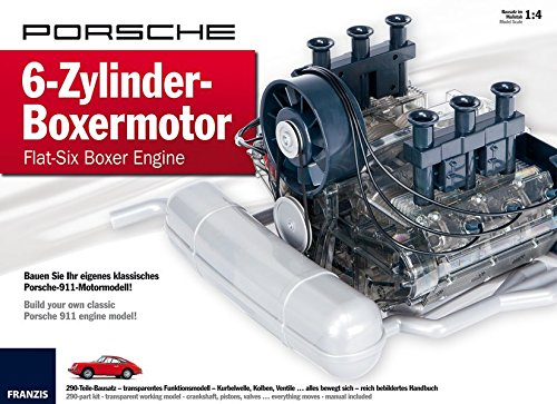 amazon com porsche flat six boxer engine model kit franzis verlag rh amazon com