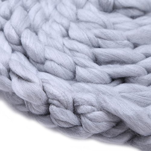 Freebily Newborn Infant Baby Braided Knitted Rug Blanket Photography Photo Background Props Basket Stuffer Filler Gray One Size
