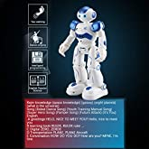 Smart Robot Posture - RC Robot for Kids Intelligent Programmable Robot with Infrared Controller Toys, Dancing, Singing, Led Eyes, Gesture Sensing Robot Kit,Birthday Gift for Girl Age Lawrence (Blue)