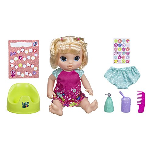Baby Alive Potty Dance Baby: Talking Baby Doll with Blonde Hair, Potty, Rewards Chart, Undies and More, Doll That