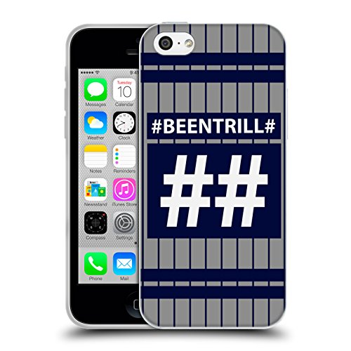 Official Been Trill Blue Stripe Hashtag Jersey Soft Gel Case for Apple iPhone 5c