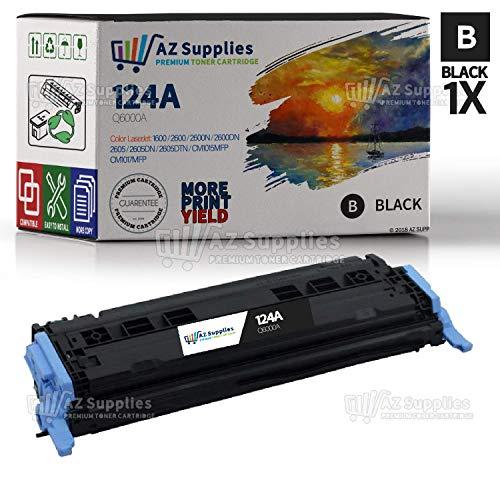 AZ SUPPLIES Toner | 30% more Print Yield |as a Replacement Q6000A Black compatible with HP Color LaserJet 1600, 2605, 2600N, 2600NSE, 2605DN, 2605DTN, CM1015MFP, - Black 2600 Q6000a 2605 Toner