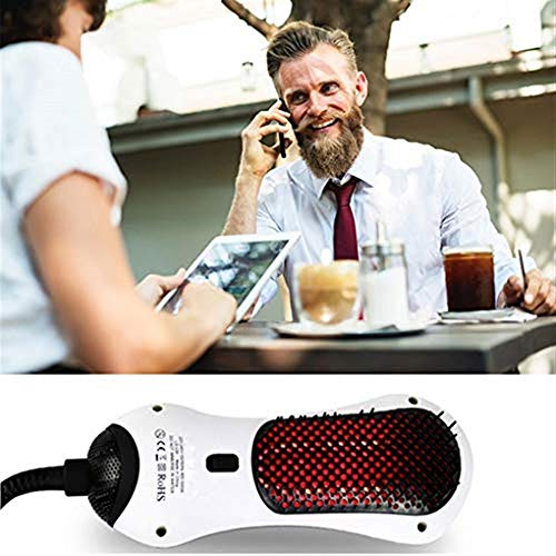 (WBSWR Electric Comb Infrared hot air Comb Mini Hair Dryer Hair Dryer Hair Straightener Straight Volume Dual-use Straight Hair Comb)