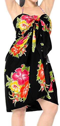 nodo bagno e397 località vestito legami LA balneare bikini beachwear da costume insabbiamento LEELA Rosso sarong incorporati SUxfpq5