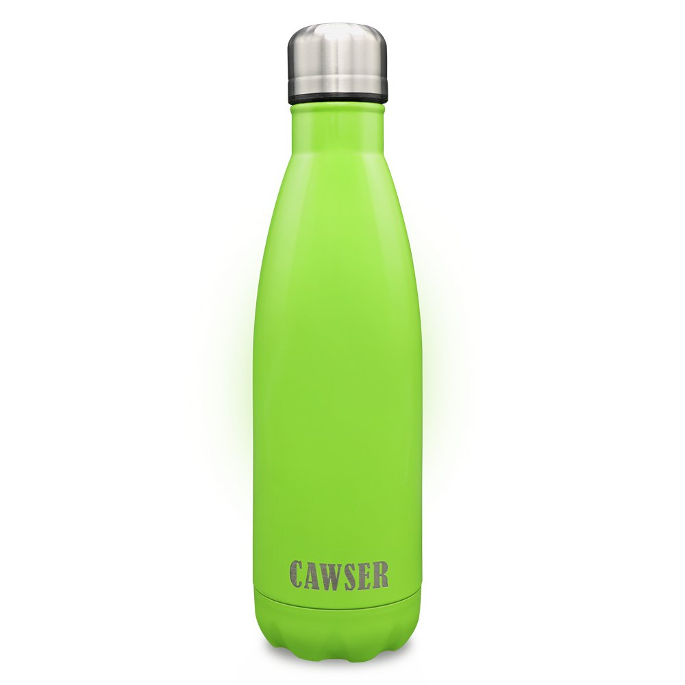 CAWSER Botellas de Agua Acero Inoxidable con Aislamiento Copa de Vacío Doble Pared Aislada al Botella Térmica Guardar para Bebidas Frías y Calientes ...