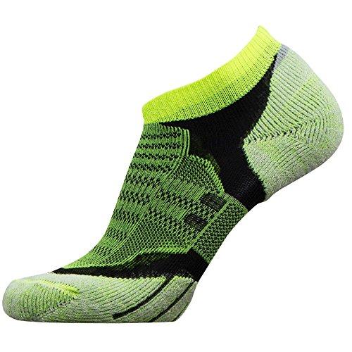 No-Show Wool Running Socks – Ultra-Light Merino Wool Athletic Socks, Trail Socks (Neon Yellow, - Ultralight Trail Socks