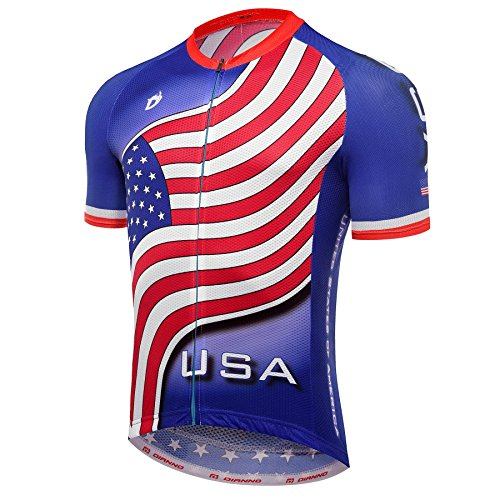 Team USA CLUB 3.0 Quality Breathable Cycling Jersey M Blue