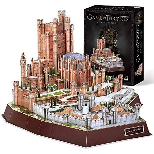 chollos oferta descuentos barato CubicFun Game of Thrones Puzzle 3D The Red Keep Got Modelo Kit Regalo para Adultos y niños Mayores de 8 años Song of Ice and Fire 314 Piezas