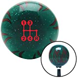 flame shifter knob - American Shifter 300739 Shift Knob (Red 4 Speed Shift Pattern - Dots 6n Green Flame Metal Flake with M16 x 1.5 Insert)