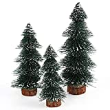 Hmlai Mini Christmas Pine Tree with Wood Stand for Xmas Tabletop Decoration,15cm/20cm (20cm)