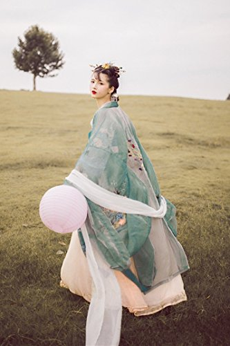 Ethnic Chinese Costume (Generic Heavy embroidery embroidered _traditional_ Chinese clothes chest jacket skirt _big- sleeved shirt Chinese _wind_ethnic_wind_ retro costume suit)