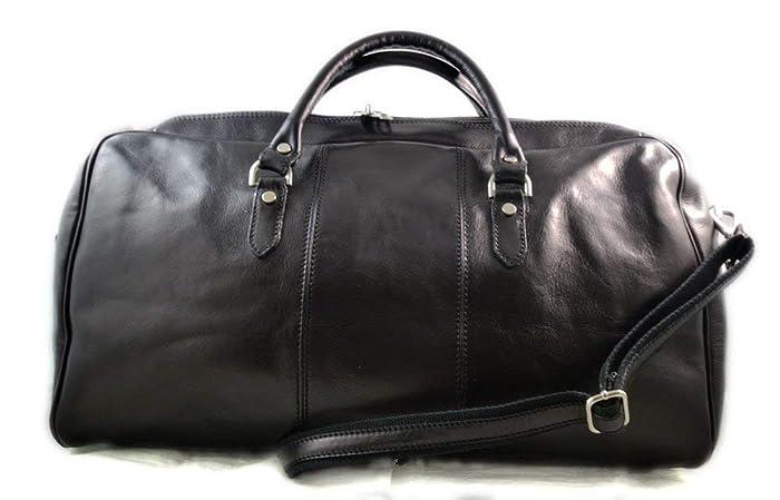 Leather duffle bag genuine leather shoulder bag black mens ladies travel  bag gym bag luggage made in Italy weekender duffle overnight bag women s  duffle bag 53957b1ce
