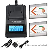 Kastar 1x Battery + Fast Charger for Sony NP-BN1 & Cyber-shot DSC-QX10 DSC-QX30 DSC-QX100 DSC-TF1 DSC-TX10 DSC-TX20 DSC-TX30 DSC-W530 DSC-W570 DSC-W800 DSC-W830 DSC-W560 DSC-T99 DSC-TX5 DSC-W320