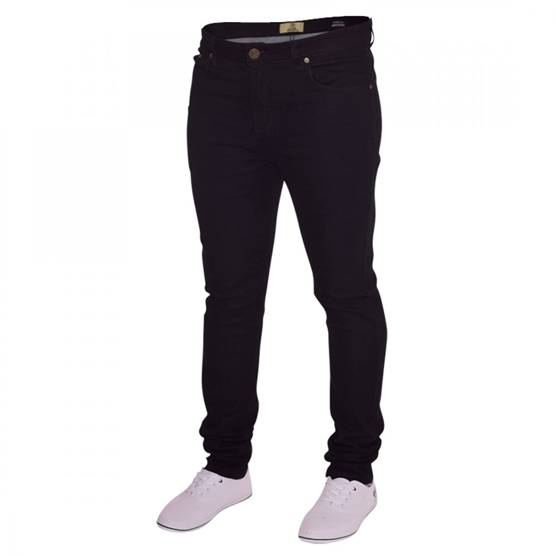 Island Trading Mens Skinny Stretch Slim Fit Stretchable Denim Jeans Cotton  Trousers Blue, Black,