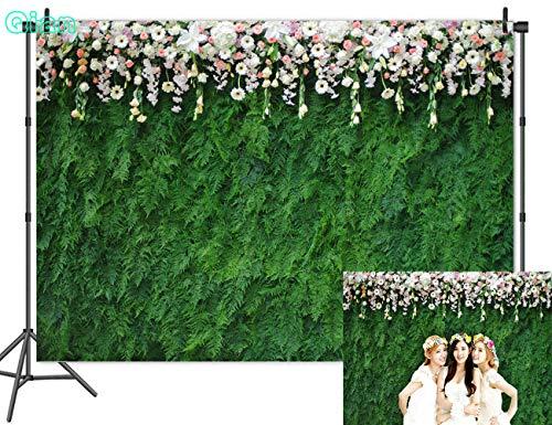 Qian Vinyl 9x6ft Nature Green Leaf Photography Backdrops 3D Floral Photo Backdrops for Wedding Bridal Shower Decoration Studio Props - 3d Decorations Christmas