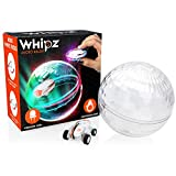 Whipz Micro Racers Mini Cars - Micro Pocket Racer LED Light Up Glow in The Dark Car Spinner Girls or Boys Toys, Keychain Cars w/ Balls for Kids