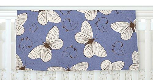 KESS InHouse Louise Butterflies Blue Fleece Baby Blanket 40 x 30 [並行輸入品]   B077ZP7Q54