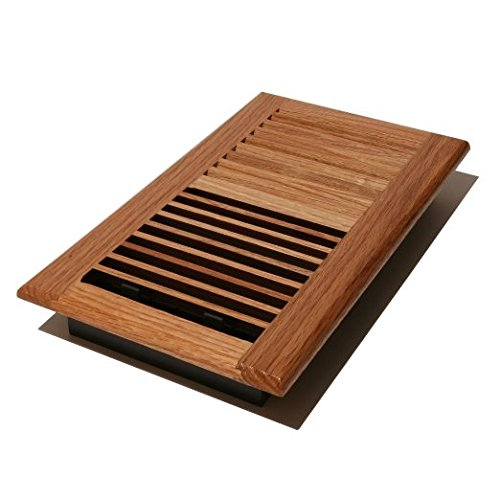V610-BO - 6-Inch by 10-inch Wood Louver Floor Register-Light/Butterscotch Oak ()