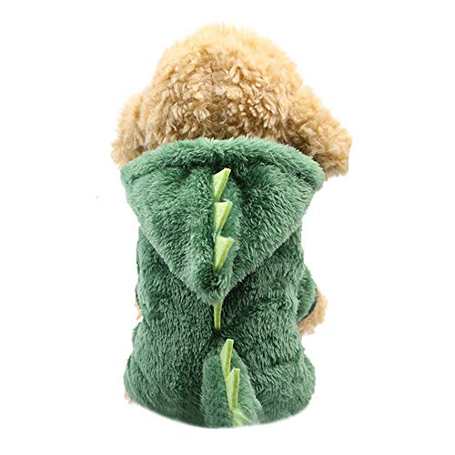 (Geetobby Pet Hoodies Dog Dinosaur Shape Sweatshirt Cat Puppy Coat Dress Sweaters)