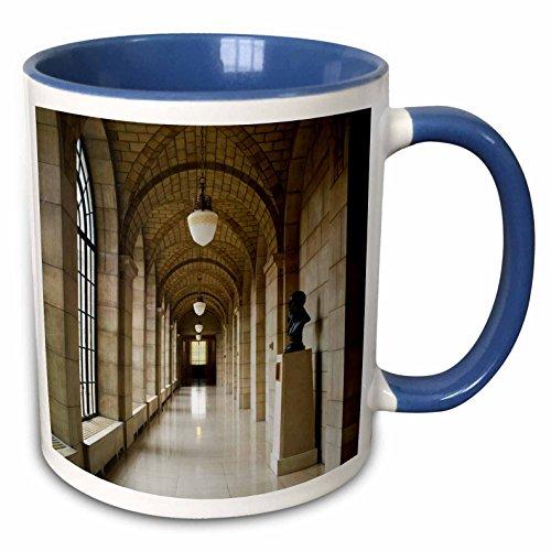 (3dRose Danita Delimont - Walter Bibikow - Buildings - USA, Nebraska, Lincoln, Nebraska State Capitol interior - 15oz Two-Tone Blue Mug)