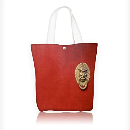 51ee0ddd5379 Image Unavailable. Image not available for. Color  Ladies canvas tote bag  Red ...