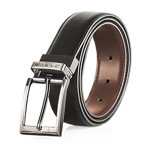 Men's Genuine Leather Swivel Reversible Black & Brown Dress Belt: Mens belts for Business or Formal Wear - 40