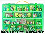Shopkins Compatible Organizer - My Shoppin Bin Is The Perfect Shopkins Compatible Storage Box - Fits Up To 200 Characters, Up To 50 Shopping Bags and 8 Shopping Baskets - Sturdy Case And Carrying Handle- (Lime)