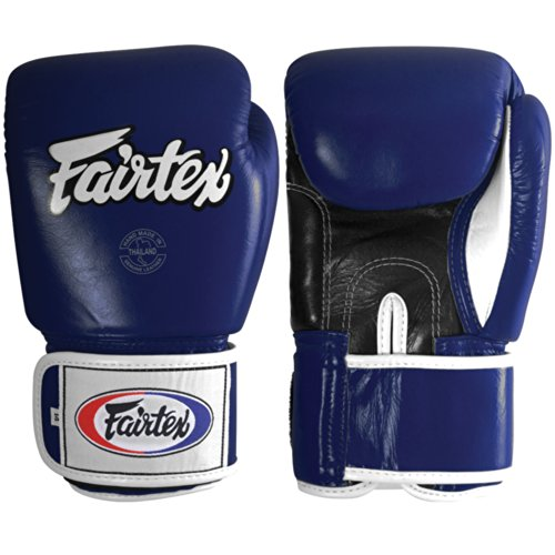 Fairtex Muay Thai-Style Sparring Glove,Blue,14 oz