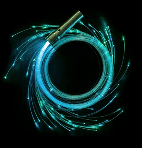 LED Fiber Optic Whip by State of Flow | Bonus E-Book | 5 FT Fiber Optic Rave Light Whip Space Whip with 360° Radial Swivel | Dance / Party Favor / EDM / Light Shows