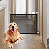 Accmor Magic Gate Baby Safety Gates, Portable Folding Safe Guard Install Anywhere Pet Saftey Gate Baby Safety Fence for Hall Doorway Wide Tall, Retractable