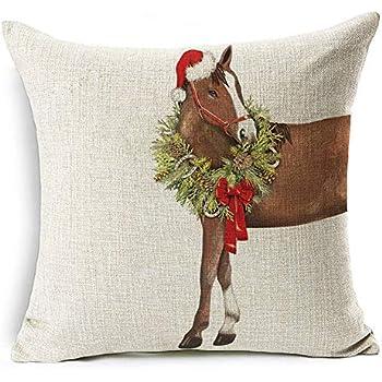 Amazon.com: Qinqingo Christmas Pillow Covers Cartoon