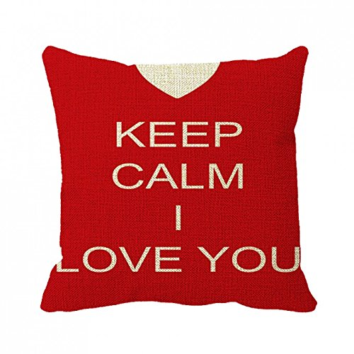 July Pillowcase Keep Calm And I Love You Pillow Cover 20Inch