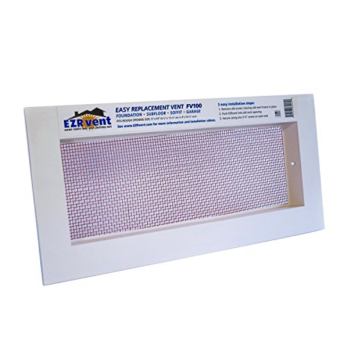 EZRvent FV100-8HC: Foundation, Sub-floor, Soffit and Garage Replacement Vent - Copper Mesh (5 x 14 Rough Opening) by EZRvent