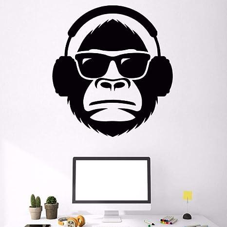 Decoración de la pared Cabeza de mono con gafas de sol ...