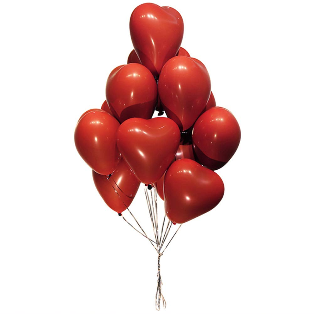 Lunuolao 12-Inch Red Heart Balloon, Natural Material, Environmental Protection and Non-Toxic, Round and Full of Color, Suitable for Wedding by Lunuolao